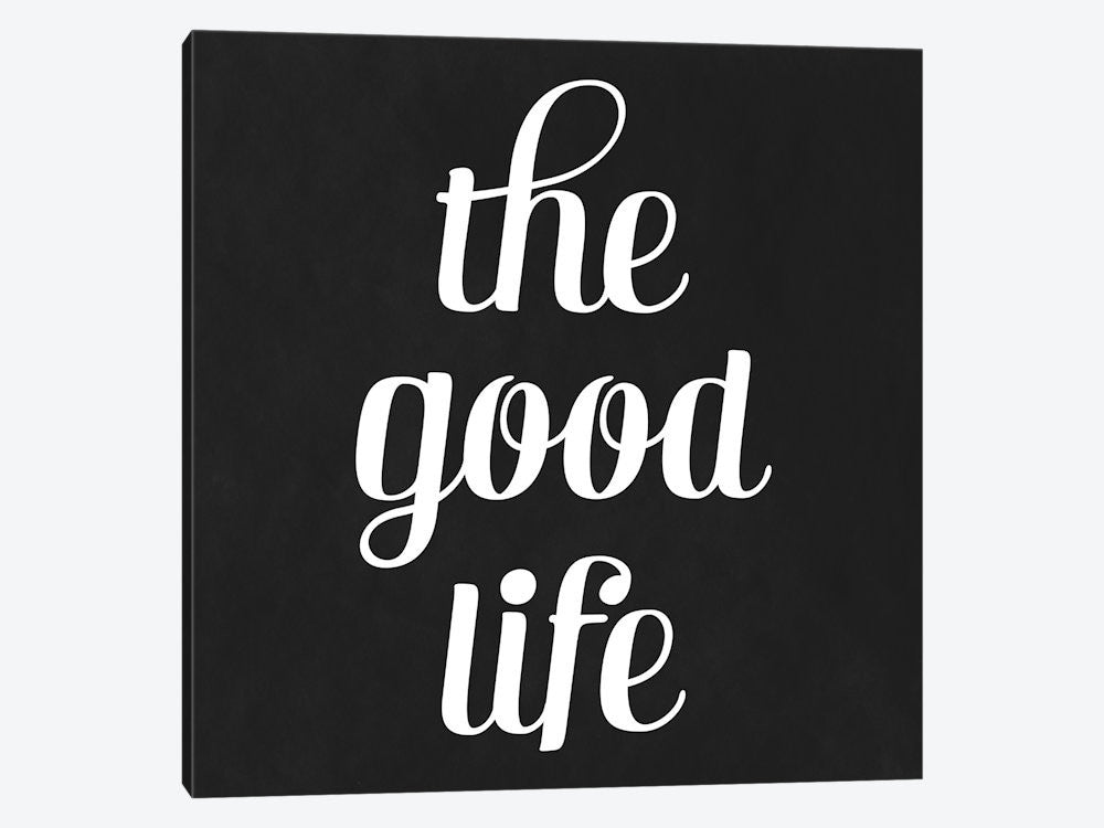 "Modern Art The Good Life by 5by5collective Canvas Print 26"" L x 26"" H x 0.75"" D - eWallArt"