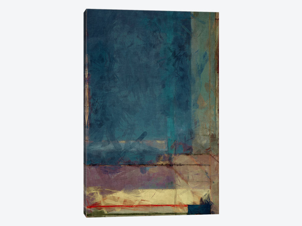 "Modern Art  Ocean view Window by 5by5collective Canvas Print 26"" L x 40"" H x 0.75"" D - eWallArt"