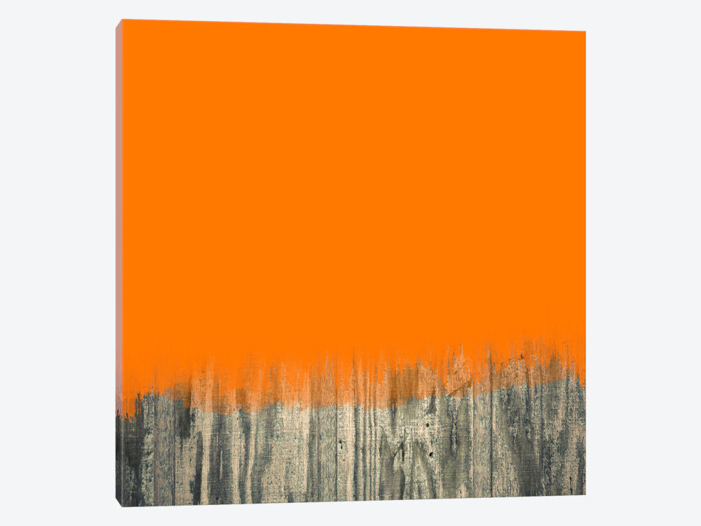 "Modern Art Over the Wood Fence by 5by5collective Canvas Print 37"" L x 37"" H x 0.75"" D - eWallArt"
