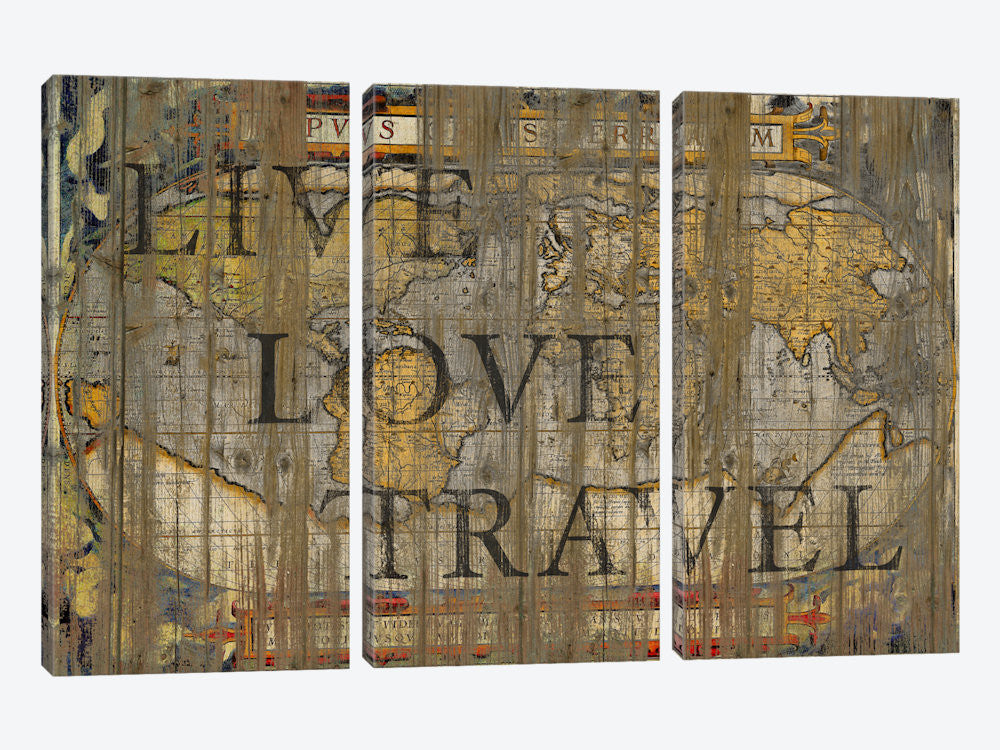 "Live Love Travel by Diego Tirigall Canvas Print 60"" L x 40"" H x 0.75"" D - eWallArt"