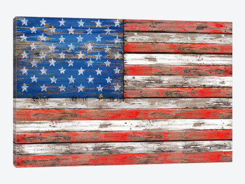 "Gold Flag II by Natasha Westcoat Canvas Print 60"" L x 40"" H x 0.75"" D"
