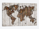 Wood Map by Diego Tirigall Canvas Print 26