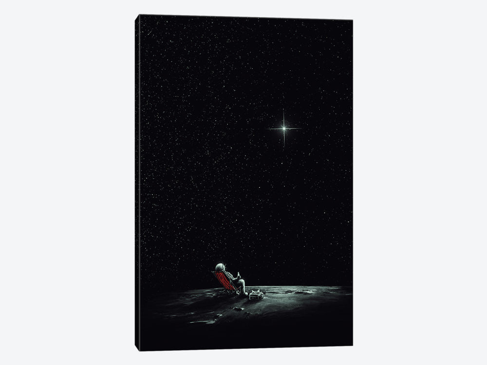 "Space Chill II by Nicebleed Canvas Print 18"" L x 26"" H x 0.75"" D - eWallArt"