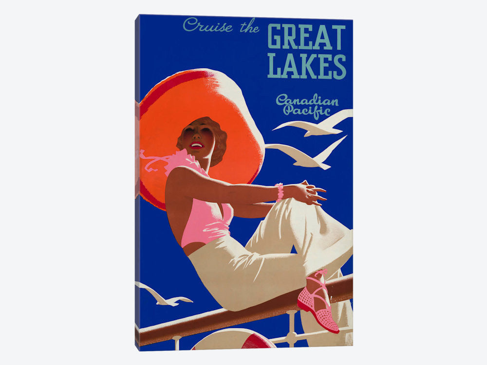 "Cruise the Great Lakes Canadian Pacific by Print Collection Canvas Print 40"" L x 60"" H x 1.5"" D - eWallArt"