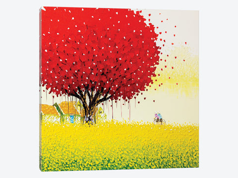 "Hedgerow I  by Julia Purinton Canvas Print 37"" L x 37"" H x 0.75"" D"