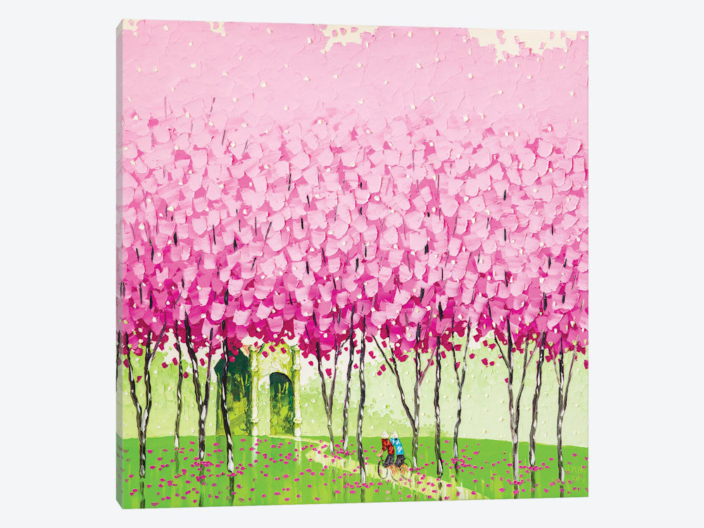 "Happiness by Phan Thu Trang Canvas Print 26"" L x 26"" H x 0.75"" D - eWallArt"