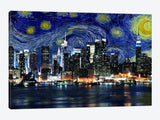 New York Starry Night Skyline by iCanvas Canvas Print 26