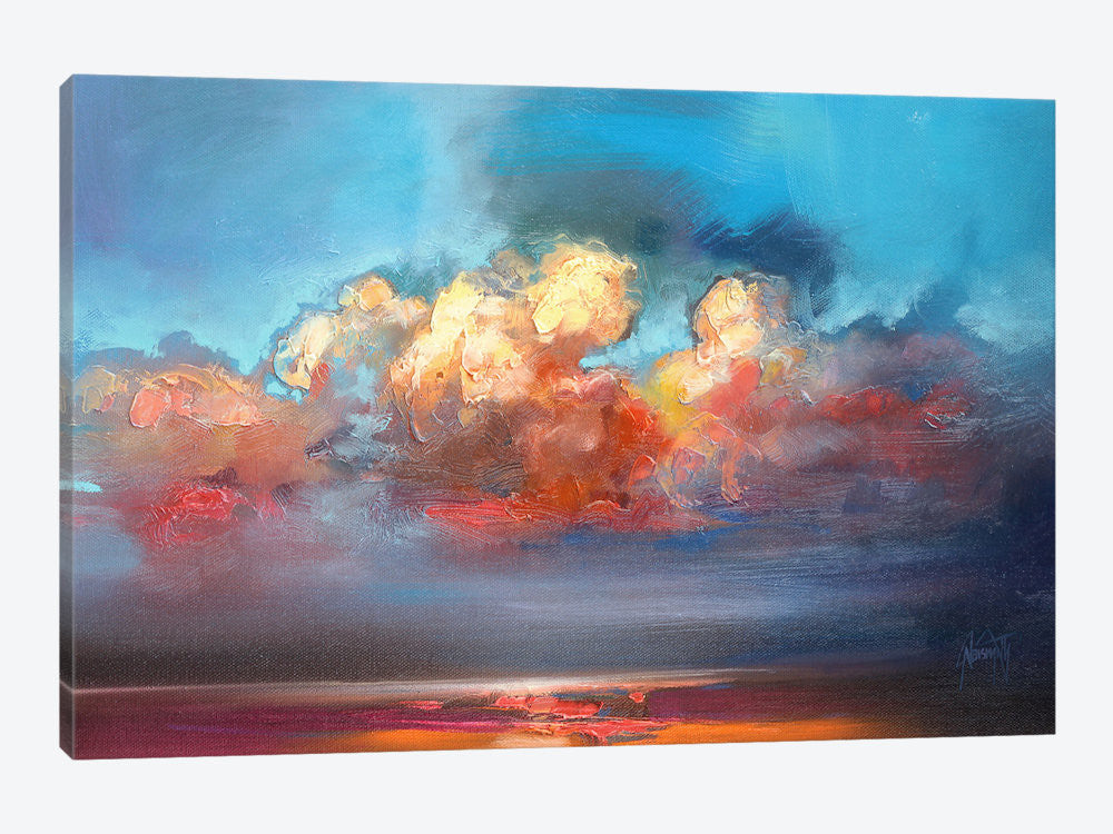 "Vermillion Cumulus  by Scott Naismith Canvas Print 26"" L x 18"" H x 0.75"" D - eWallArt"