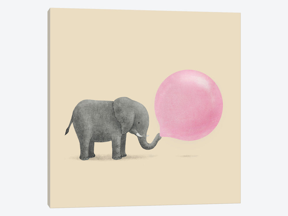 "Jumbo Bubble Gum Square by Terry Fan Canvas Print 37"" L x 37"" H x 0.75"" D - eWallArt"