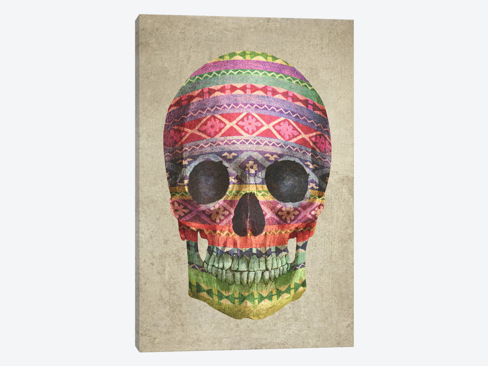 "Navajo Skull by Terry Fan Canvas Print 40"" L x 60"" H x 1.5"" D - eWallArt"