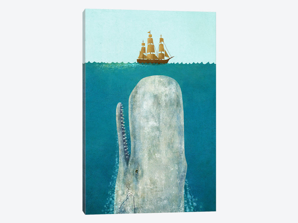 "The Whale by Terry Fan Canvas Print 18"" L x 26"" H x 0.75"" D - eWallArt"