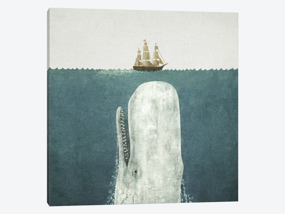 "White Whale Square by Terry Fan Canvas Print 37"" L x 37"" H x 0.75"" D - eWallArt"