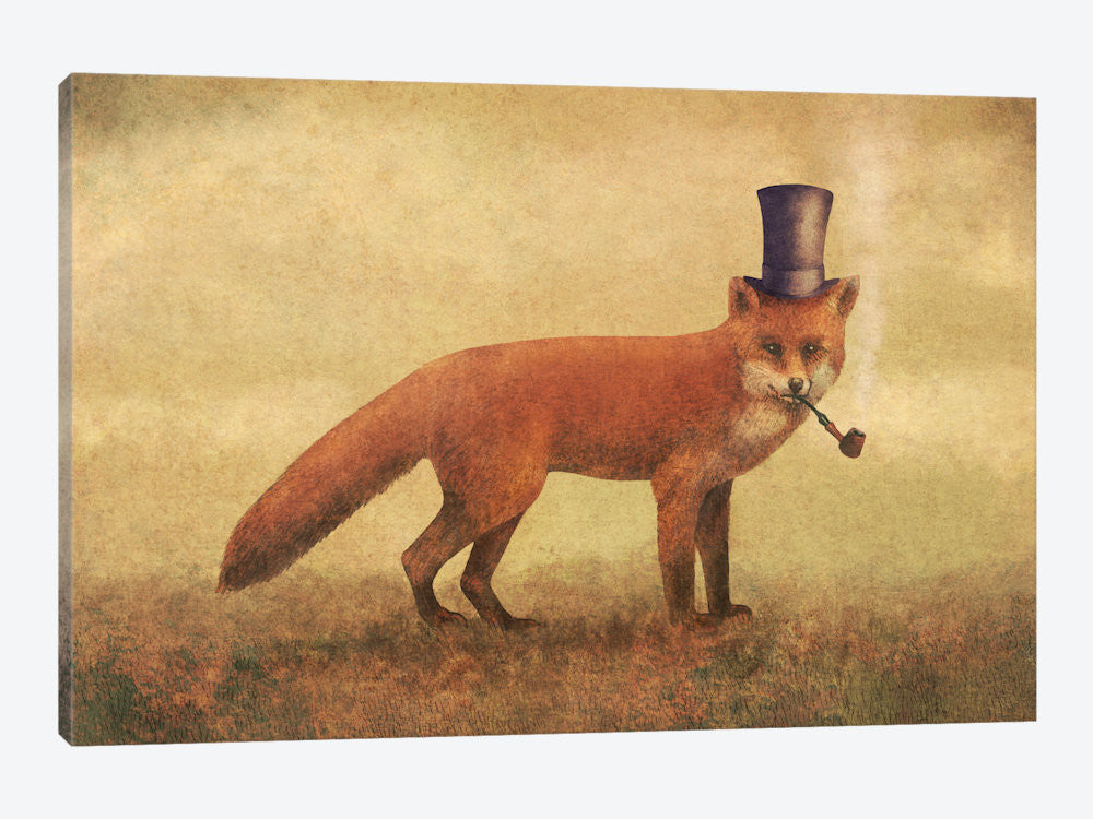 "Crazy Like A Fox by Terry Fan Canvas Print 60"" L x 40"" H x 1.5"" D - eWallArt"