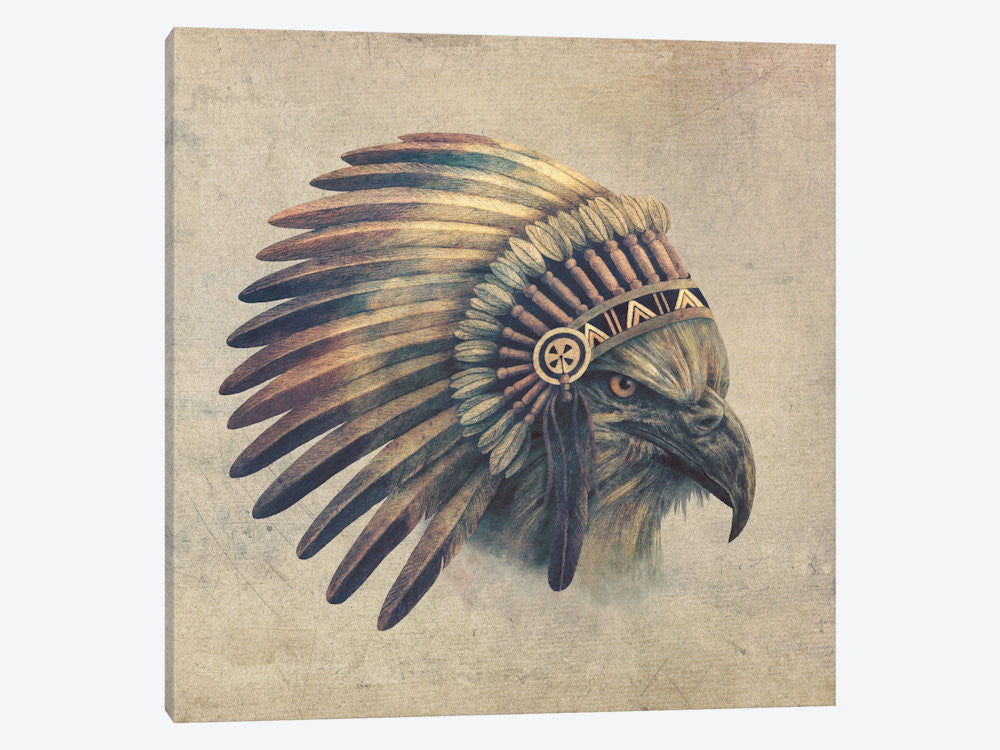 "Eagle Chief #1 by Terry Fan Canvas Print 37"" L x 37"" H x 0.75"" D - eWallArt"
