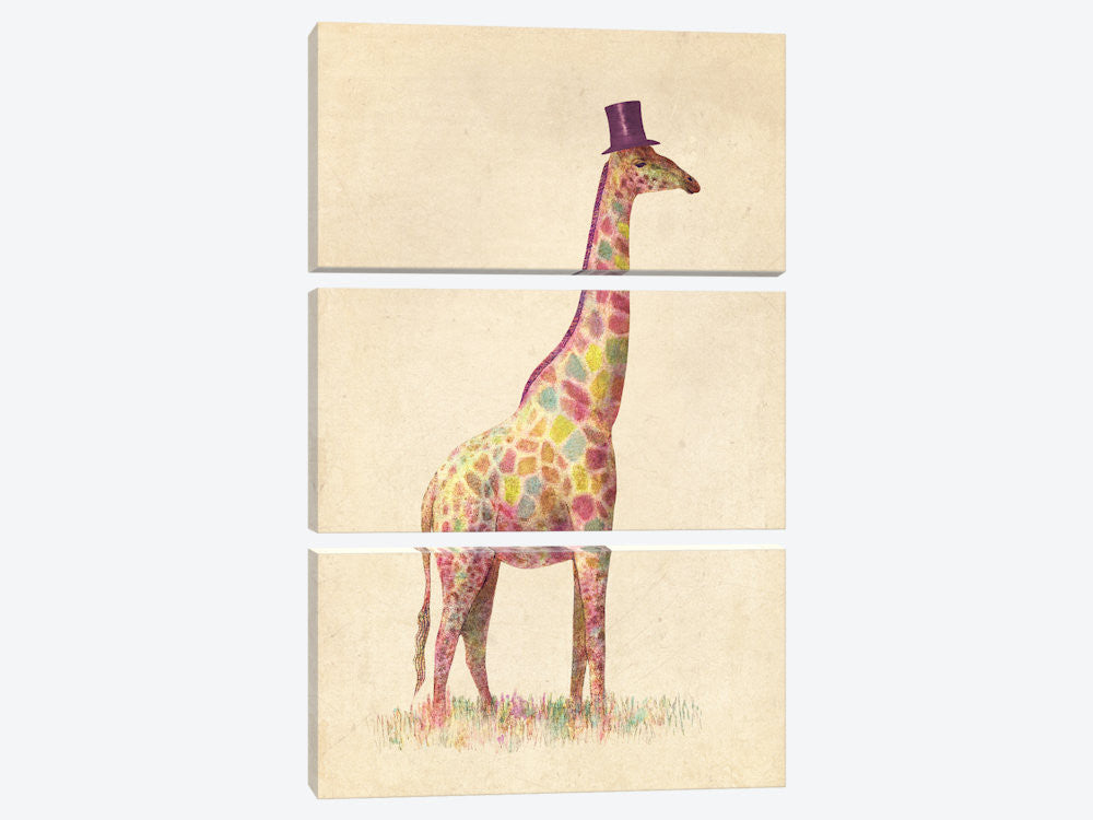 "Fashionable Giraffe by Terry Fan Canvas Print 40"" L x 60"" H x 0.75"" D - eWallArt"