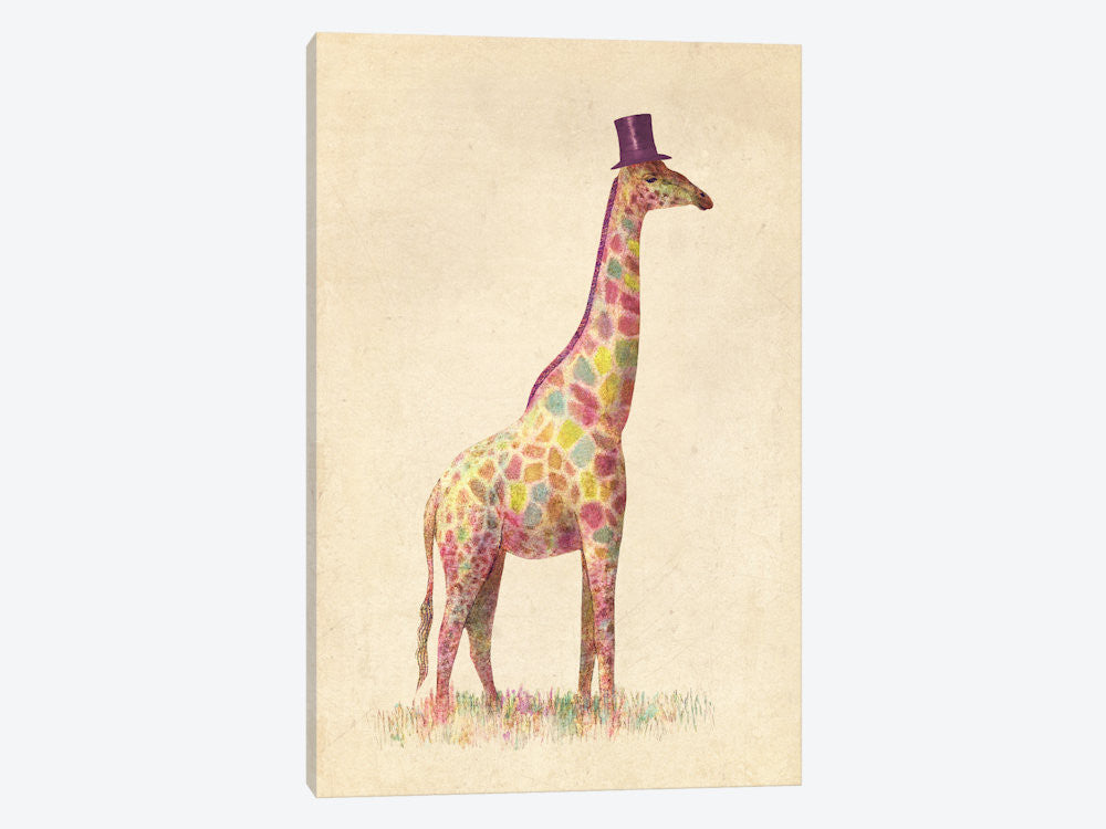 "Fashionable Giraffe by Terry Fan Canvas Print 26"" L x 40"" H x 0.75"" D - eWallArt"