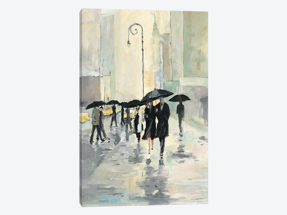 "City in the Rain by Avery Tillmon Canvas Print 40"" L x 60"" H x 1.5"" D - eWallArt"
