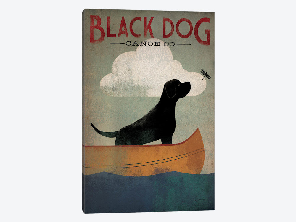 "Black Dog Canoe Co I by Ryan Fowler Canvas Print 18"" L x 26"" H x 0.75"" D - eWallArt"