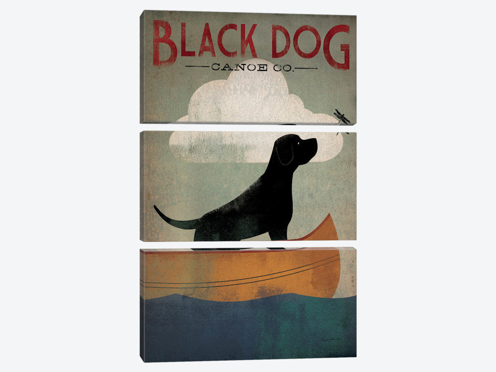 "Black Dog Canoe Co I by Ryan Fowler Canvas Print 40"" L x 60"" H x 0.75"" D - eWallArt"