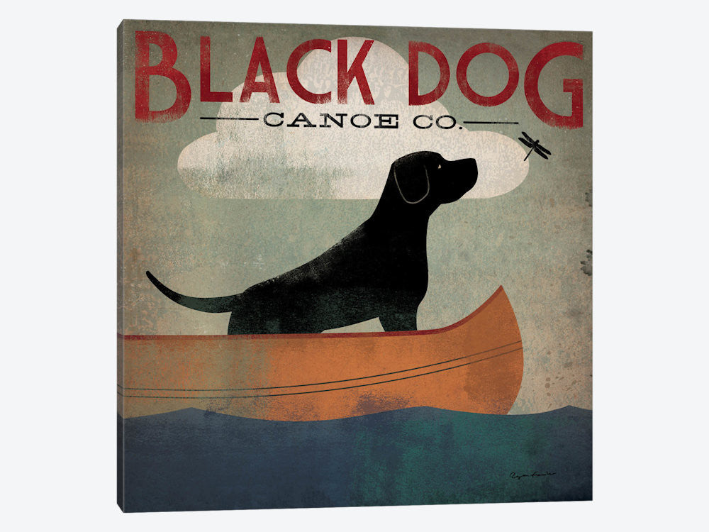 "Black Dog Canoe Co II by Ryan Fowler Canvas Print 37"" L x 37"" H x 0.75"" D - eWallArt"