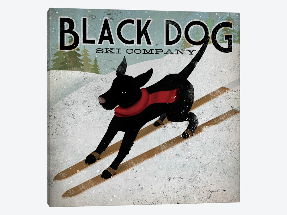 "Black Dog Ski Co II by Ryan Fowler Canvas Print 26"" L x 26"" H x 0.75"" D - eWallArt"