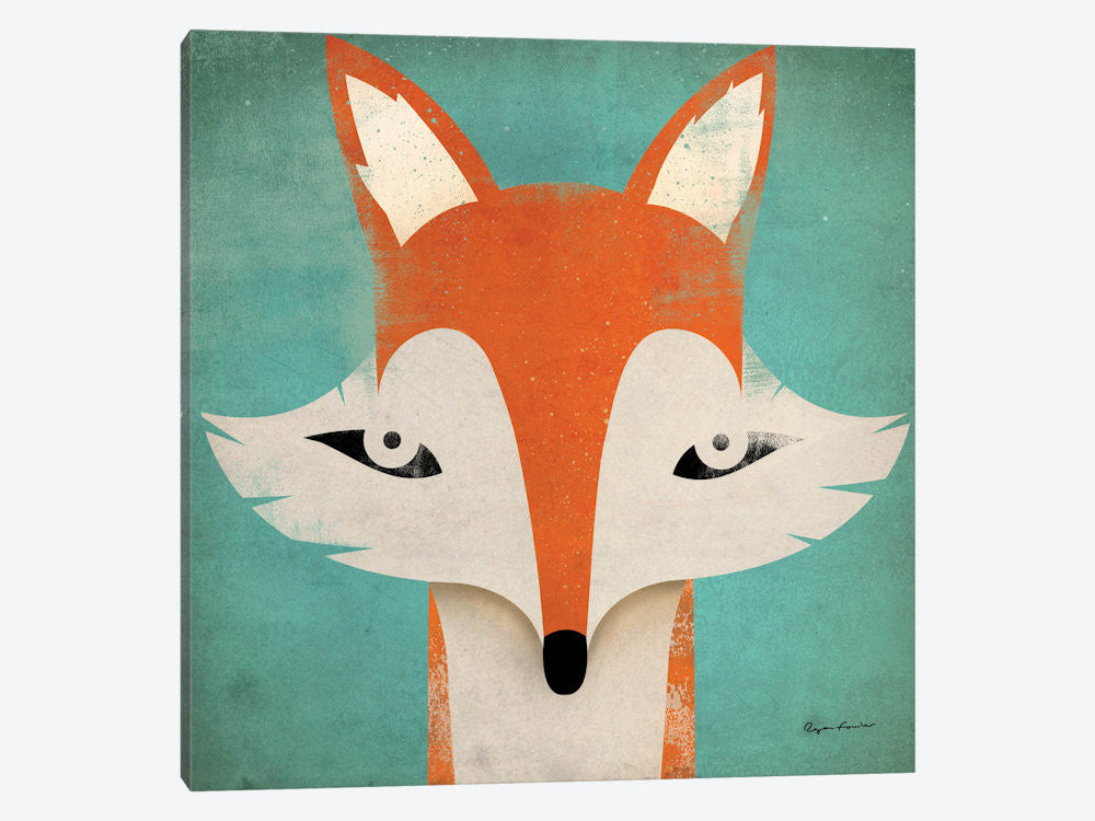 "Fox  by Ryan Fowler Canvas Print 37"" L x 37"" H x 0.75"" D - eWallArt"