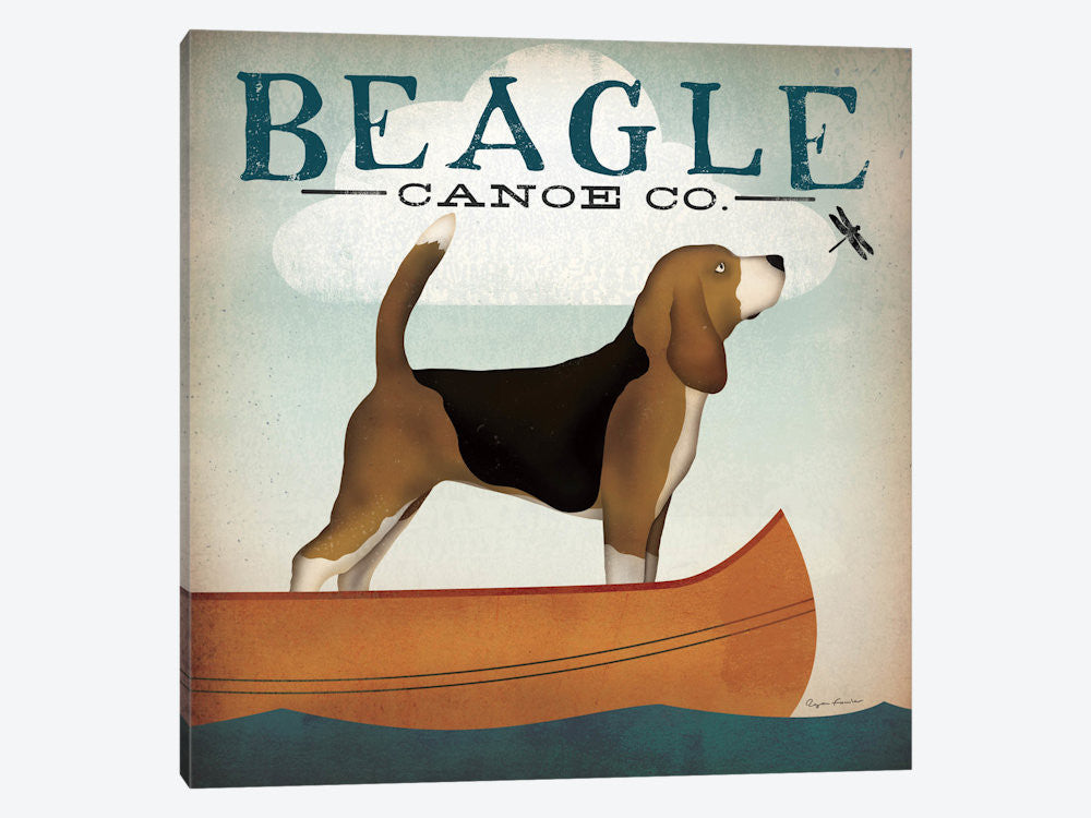 "Beagle Canoe Co  by Ryan Fowler Canvas Print 37"" L x 37"" H x 0.75"" D - eWallArt"