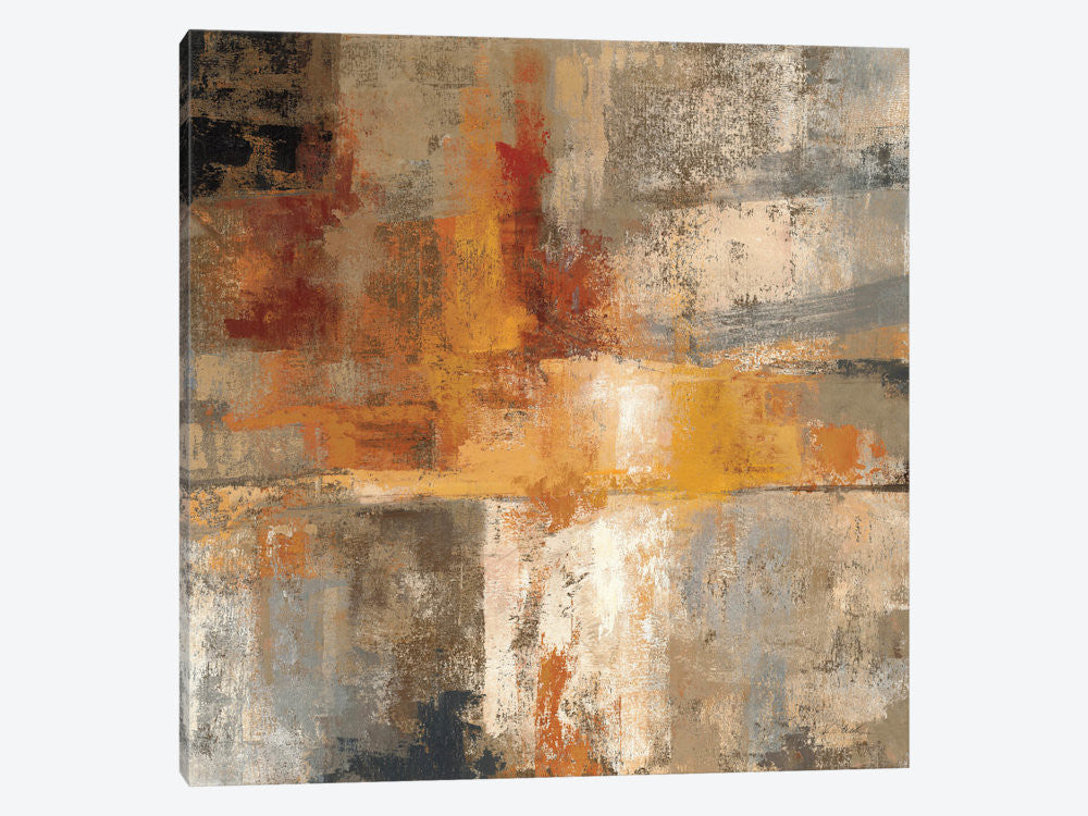 "Silver and Amber Crop  by Silvia Vassileva Canvas Print 37"" L x 37"" H x 0.75"" D - eWallArt"