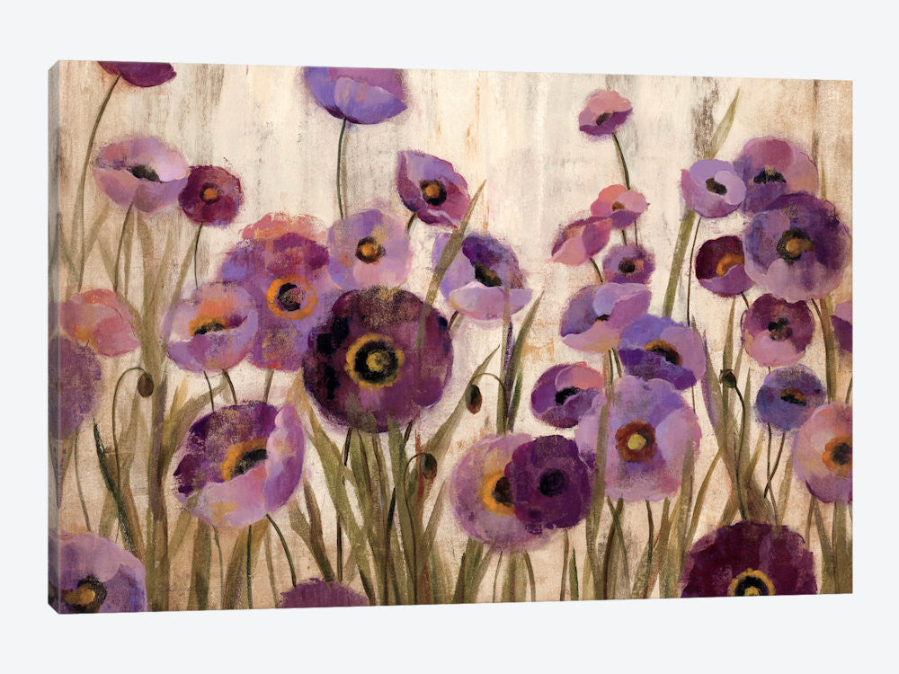 "Pink and Purple Flowers  by Silvia Vassileva Canvas Print 60"" L x 40"" H x 1.5"" D - eWallArt"