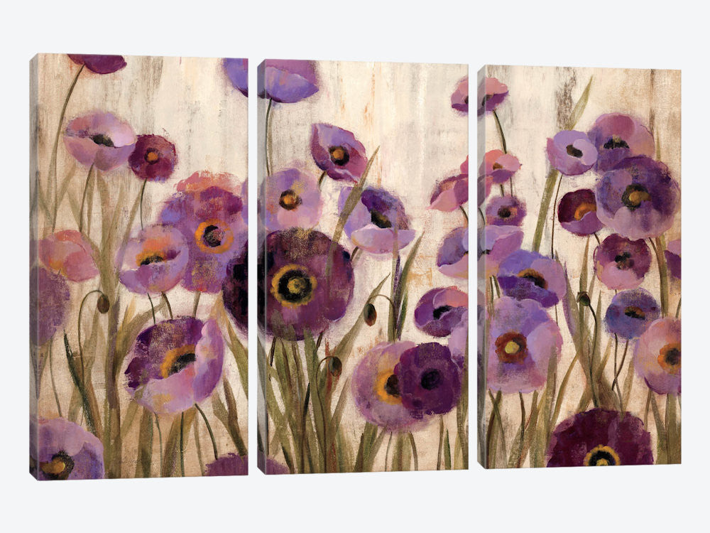 "Pink and Purple Flowers  by Silvia Vassileva Canvas Print 60"" L x 40"" H x 0.75"" D - eWallArt"
