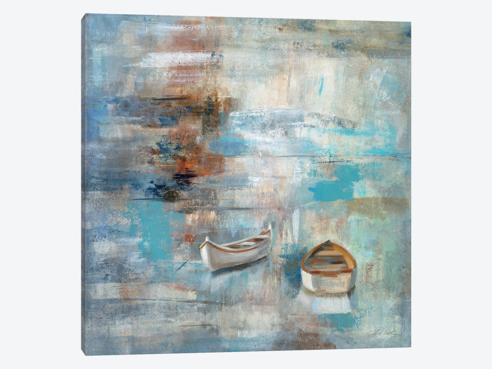"Calm Sea by Silvia Vassileva Canvas Print 37"" L x 37"" H x 0.75"" D - eWallArt"