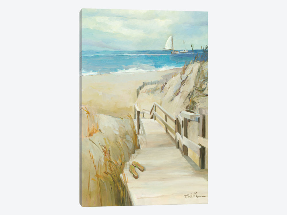 "Coastal Escape by Wild Apple Portfolio Canvas Print 26"" L x 40"" H x 0.75"" D - eWallArt"
