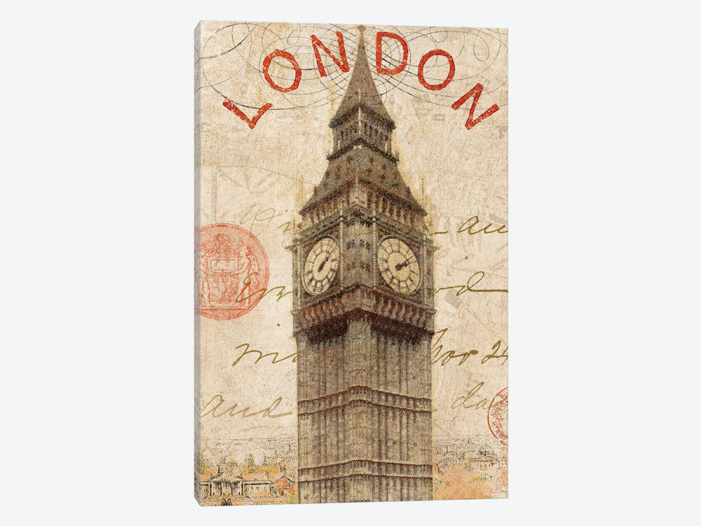 "Letter from London by Wild Apple Portfolio Canvas Print 18"" L x 26"" H x 0.75"" D - eWallArt"