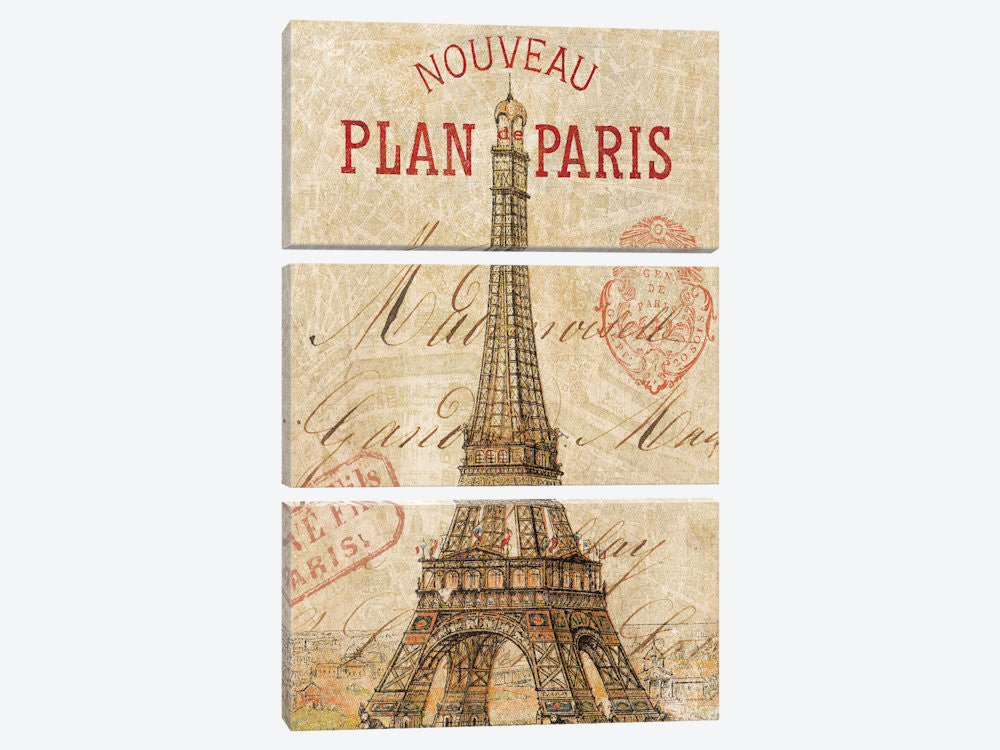 "Letter from Paris by Wild Apple Portfolio Canvas Print 40"" L x 60"" H x 0.75"" D - eWallArt"