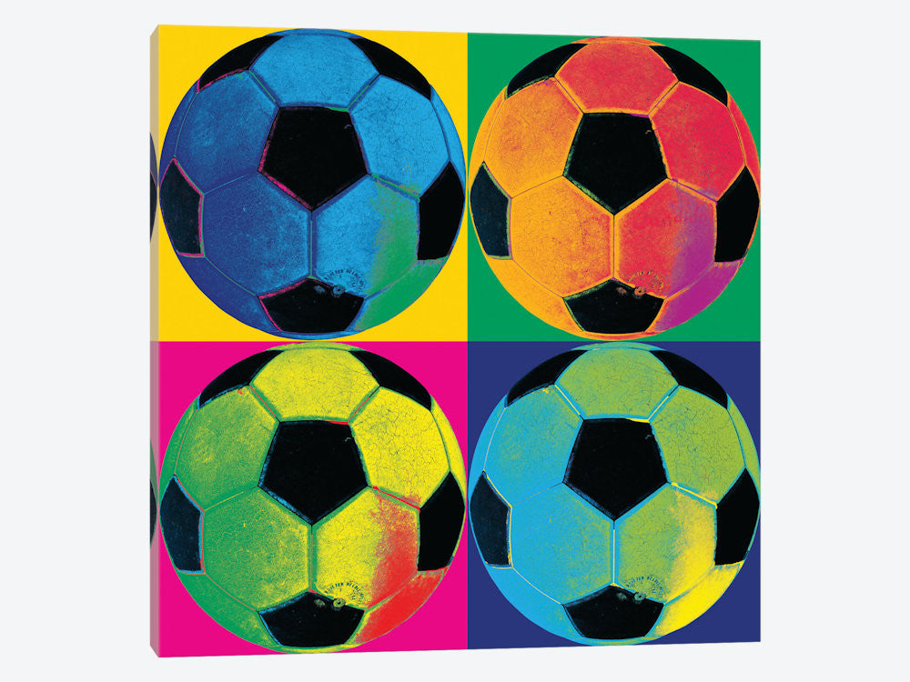 "Ball FourSoccer by Wild Apple Portfolio Canvas Print 26"" L x 26"" H x 0.75"" D - eWallArt"
