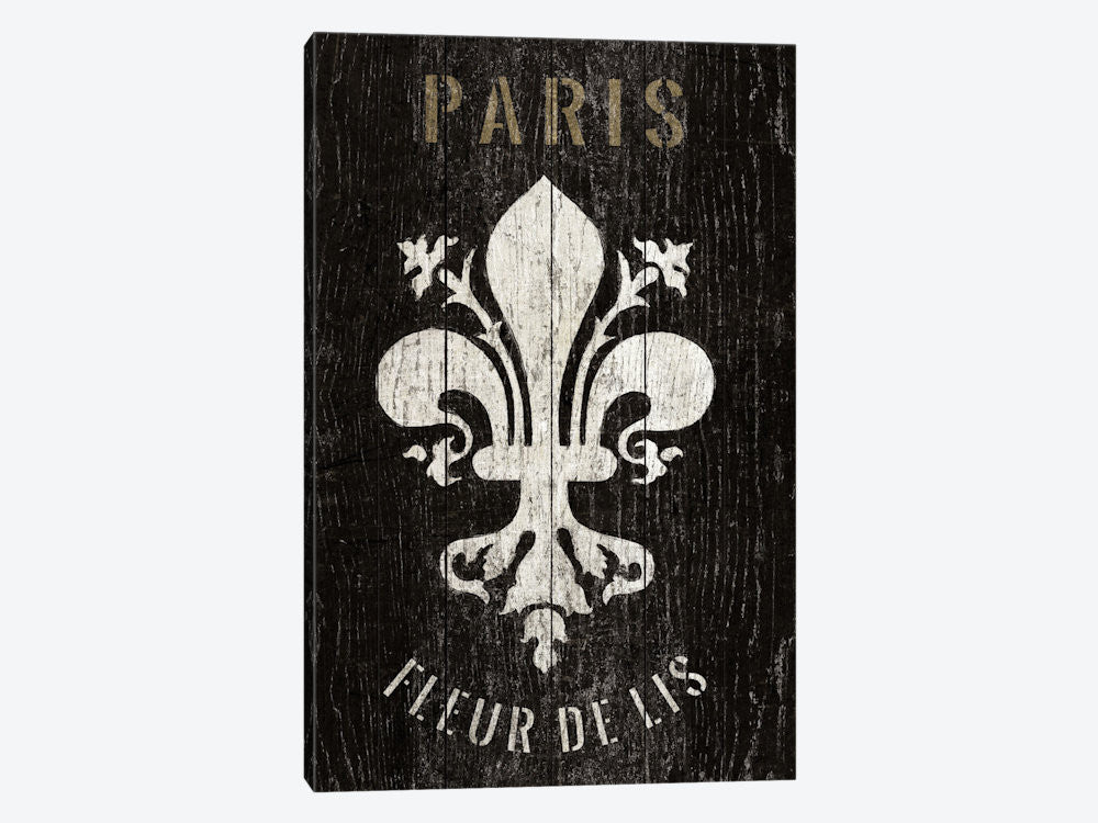 "Refurbished Fleur de Lis by Wild Apple Portfolio Canvas Print 18"" L x 26"" H x 0.75"" D - eWallArt"