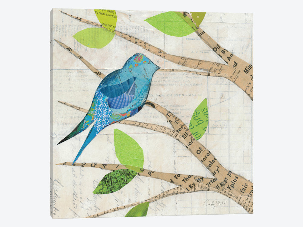 "Birds in Spring I  by Courtney Prahl Canvas Print 26"" L x 26"" H x 0.75"" D - eWallArt"