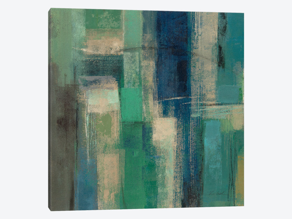 "Emerald Fields Square I  by Silvia Vassileva Canvas Print 26"" L x 26"" H x 0.75"" D - eWallArt"