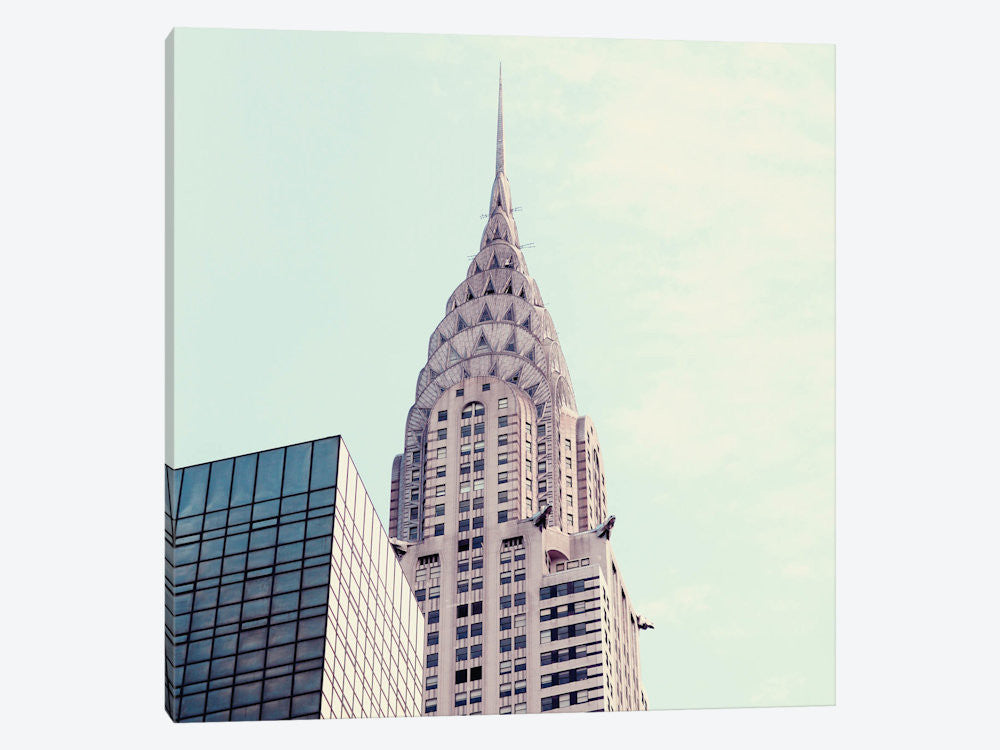 "Chrysler Building III by Alicia Bock Canvas Print 37"" L x 37"" H x 0.75"" D - eWallArt"