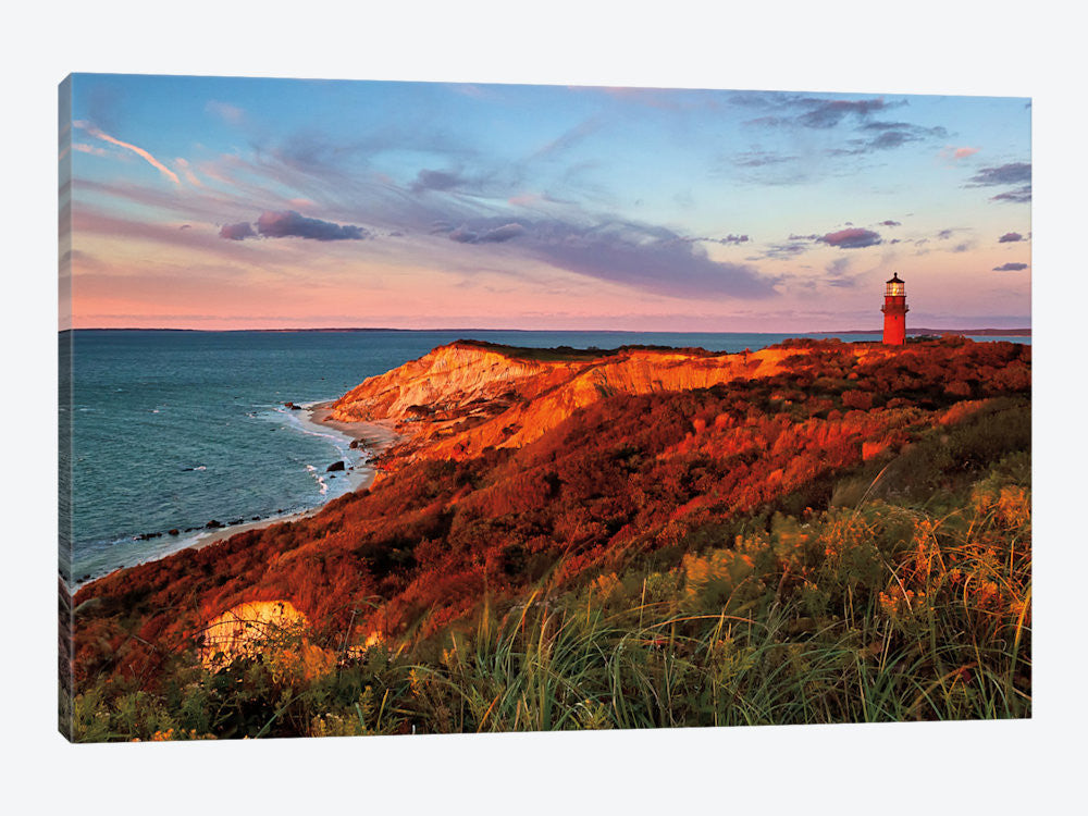 "Gay Head Sunset by Katherine Gendreau Canvas Print 26"" L x 18"" H x 0.75"" D - eWallArt"