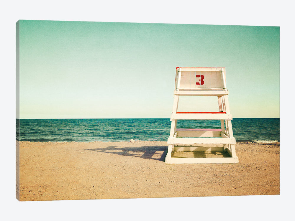"Lifeguard Station no3 by Katherine Gendreau Canvas Print 26"" L x 18"" H x 0.75"" D - eWallArt"