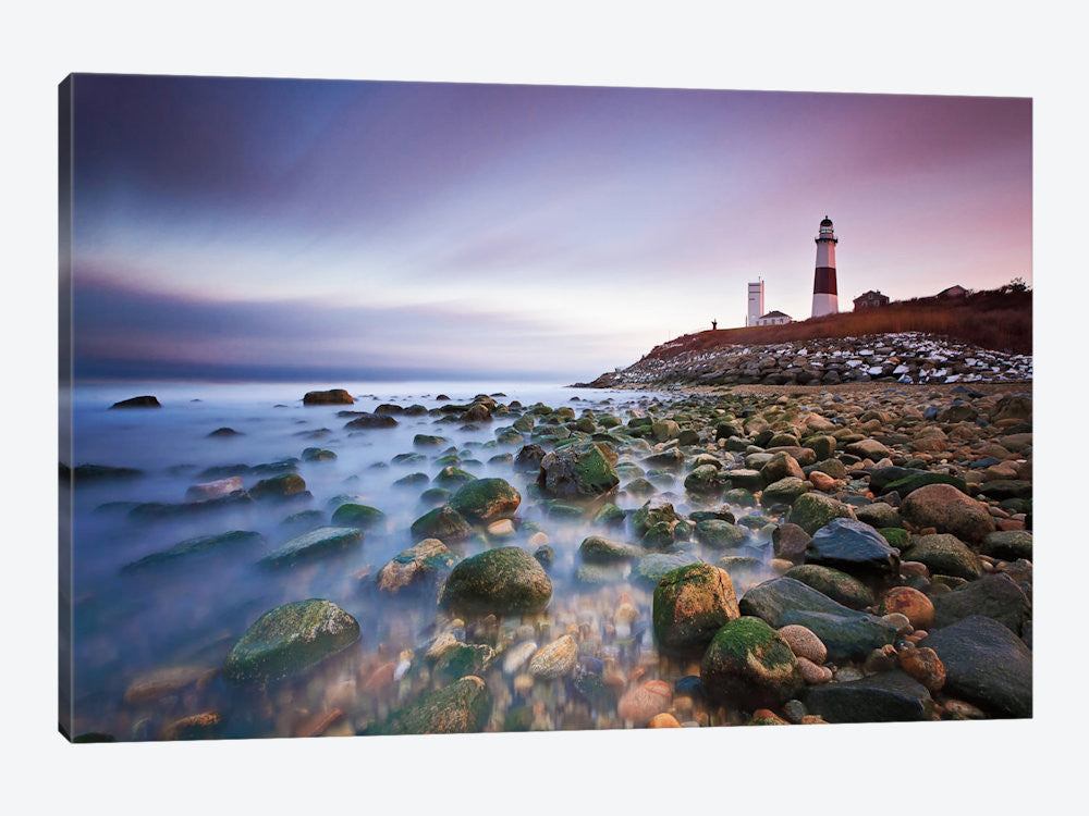 "Montauk Point Sunset by Katherine Gendreau Canvas Print 26"" L x 18"" H x 0.75"" D - eWallArt"