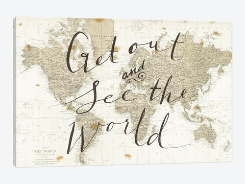 "Get Out and See the World by Sara Zieve Miller Canvas Print 26"" L x 18"" H x 0.75"" D"