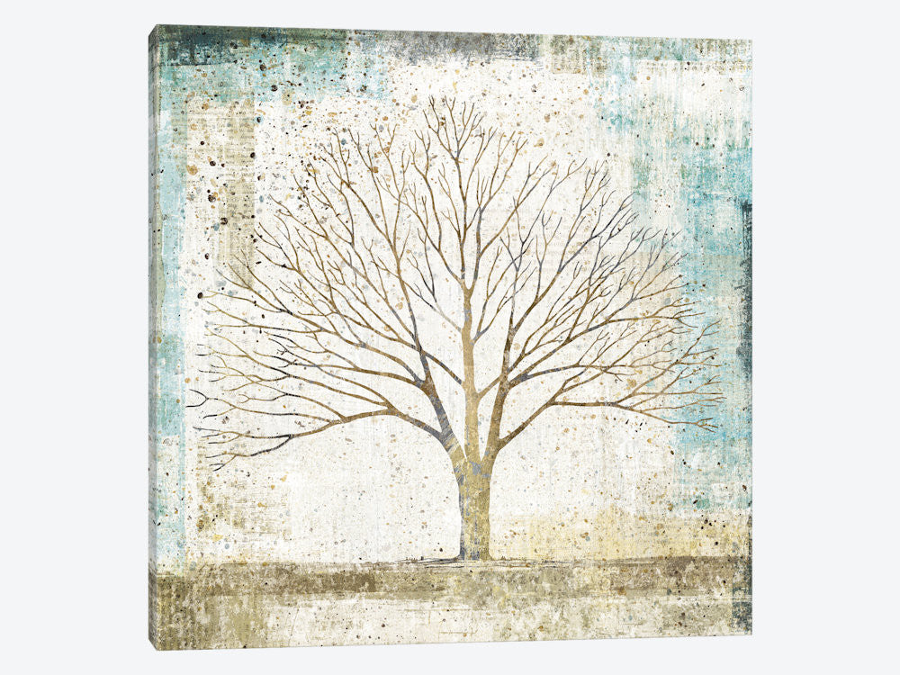 "Solitary Tree Collage by All That Glitters Canvas Print 26"" L x 26"" H x 0.75"" D - eWallArt"