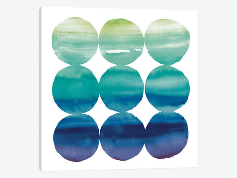 "Summer Dots II by Elyse DeNeige Canvas Print 37"" L x 37"" H x 0.75"" D"