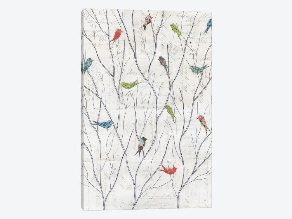 "Summer Birds Background I by Courtney Prahl Canvas Print 26"" L x 40"" H x 0.75"" D - eWallArt"