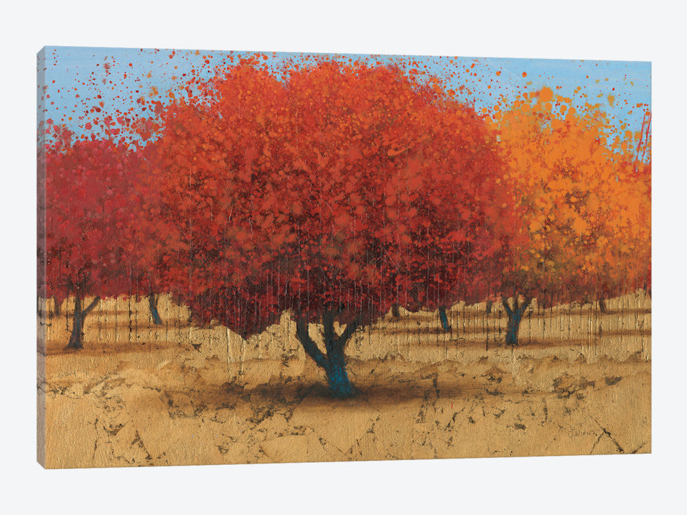 "Orange Trees II by James Wiens Canvas Print 26"" L x 18"" H x 0.75"" D - eWallArt"