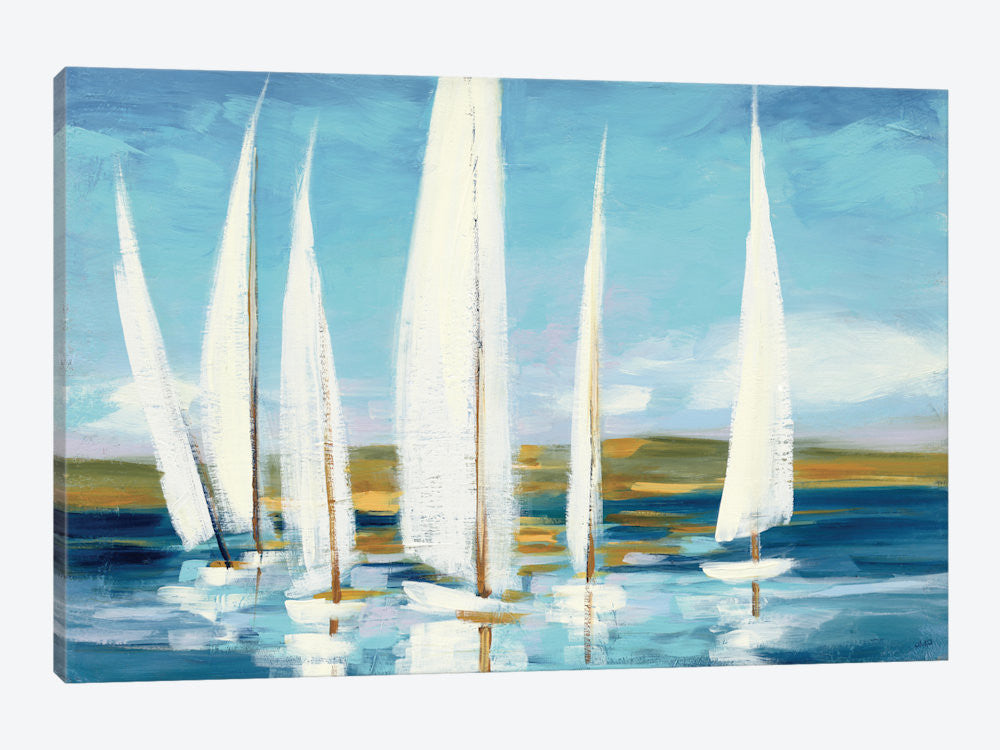 "Horizon by Julia Purinton Canvas Print 26"" L x 18"" H x 0.75"" D - eWallArt"