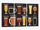 Craft Beer List by Michael Mullan Canvas Print 60
