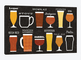 Craft Beer List by Michael Mullan Canvas Print 26
